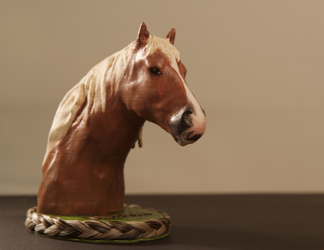 Horse 3D printed and hand painted