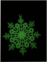 Christmas decoration, glow in the dark