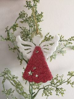 Angel Glittery Christmas decoration