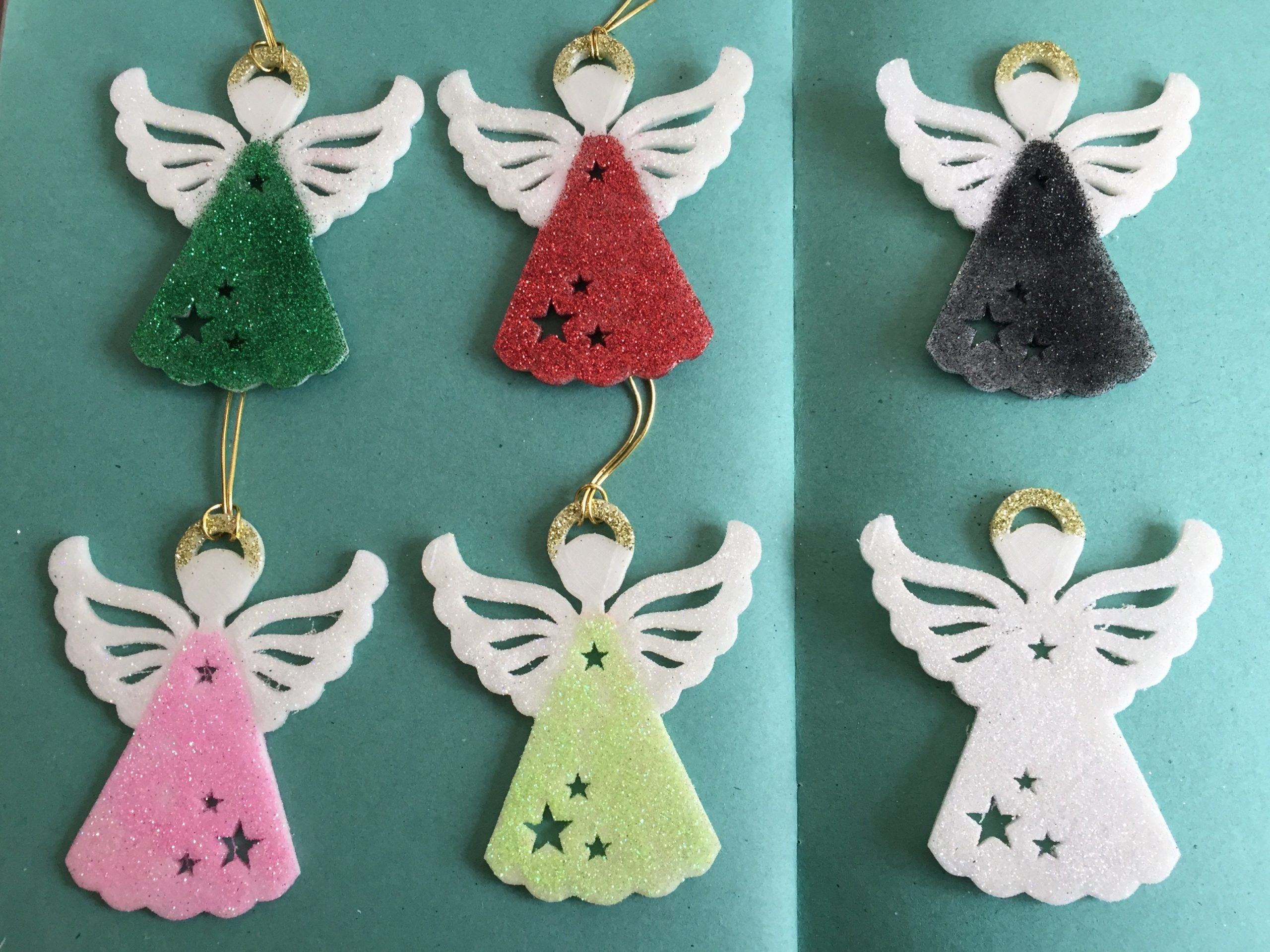 Angel Glittery Glow in the Dark Christmas decoration