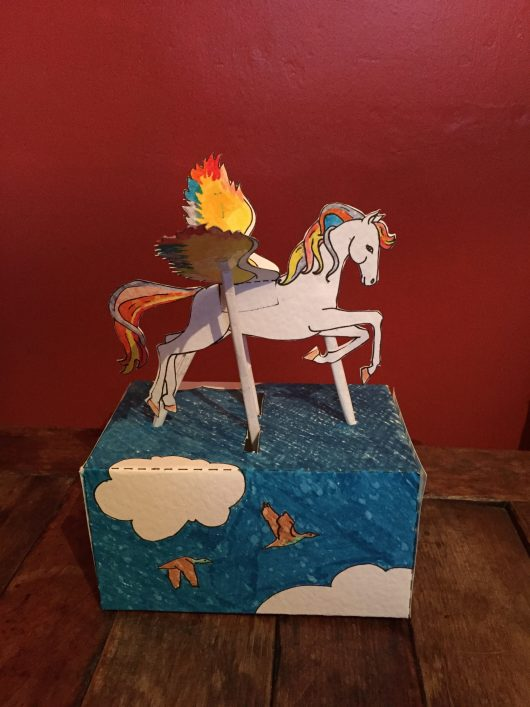 Childrens craft paper automata