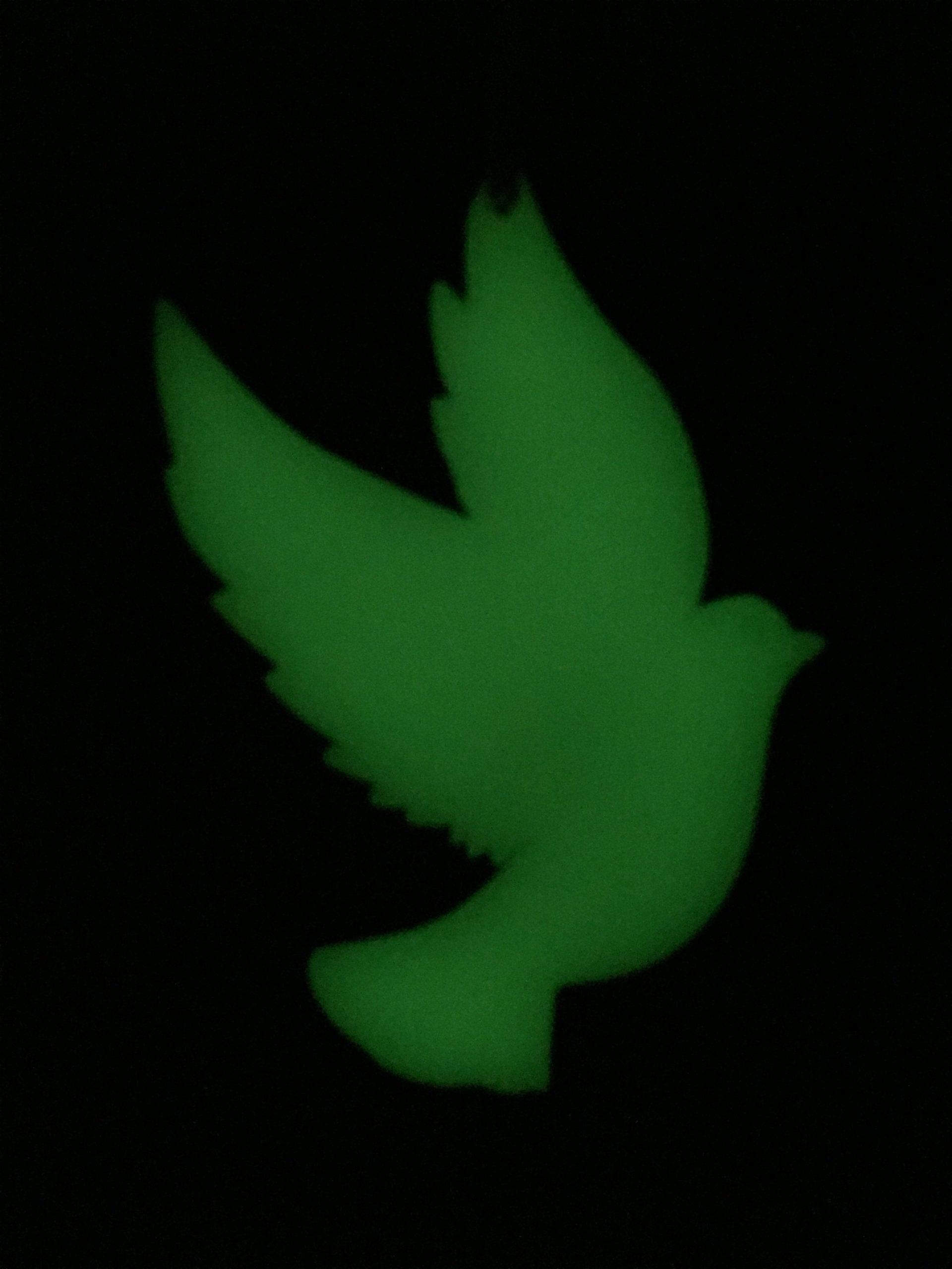 Dove Glitter Christmas decoration Glow in the Dark