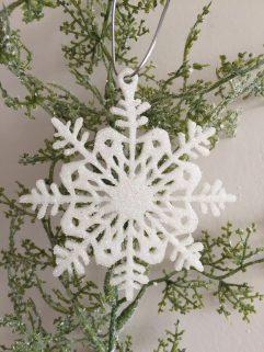 Snowflake Christmas Decoration Glitter Glow in the Dark