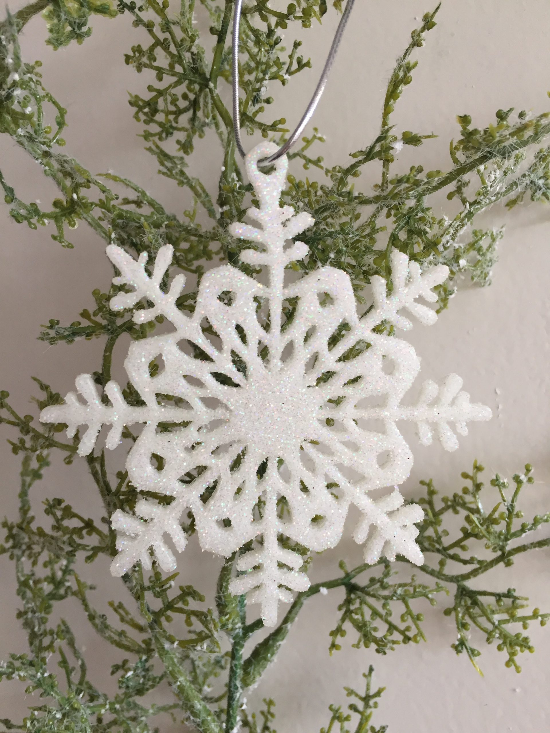 Snowflake Christmas Decoration Glitter Glow in the Dark