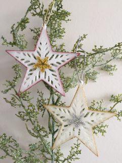 Star Christmas Decoration Glittery Glow in the Dark